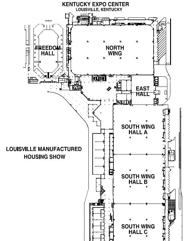 KEC Show Map  Louisville Manufactured Housing Show